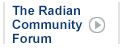 Radian Community Forum